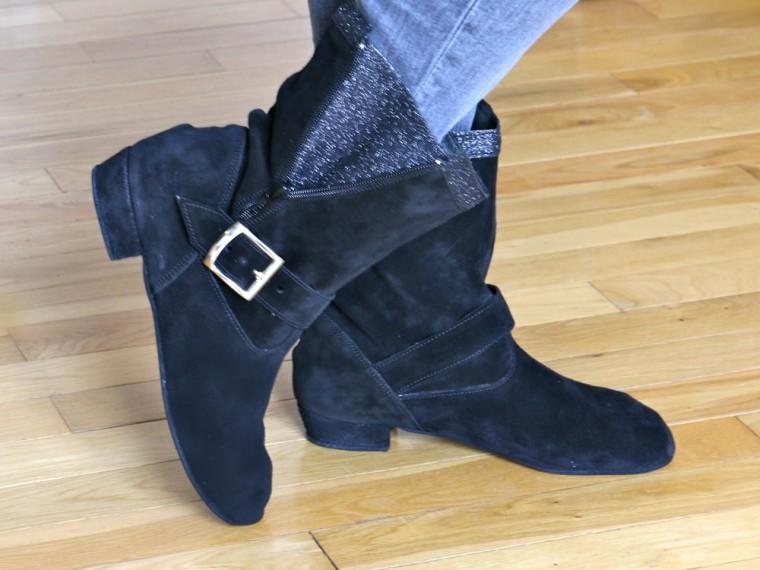 Bottine west coast swing noire c line bussy chaussure - Chaussure danse de salon femme pas cher ...