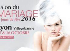 Retrouvez nous les 15 et 16 octobre 2016 au salon du mariage au double mixte de Villeurbanne