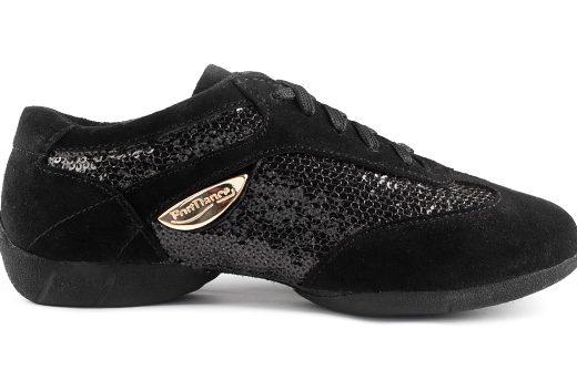 baskets de danse, sneakers de danse, femme, confortable, semelle gomme, vernis noir (2)