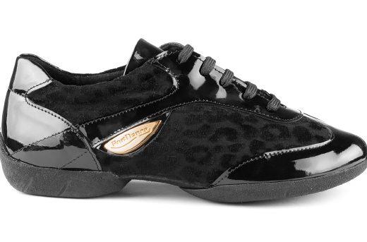 baskets de danse, sneakers de danse, femme, confortable, semelle gomme, vernis noir (3)