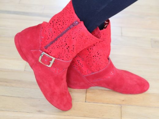 chaussure de danse, botte de west coast swing, Lyon, Céline BUSSY (2)