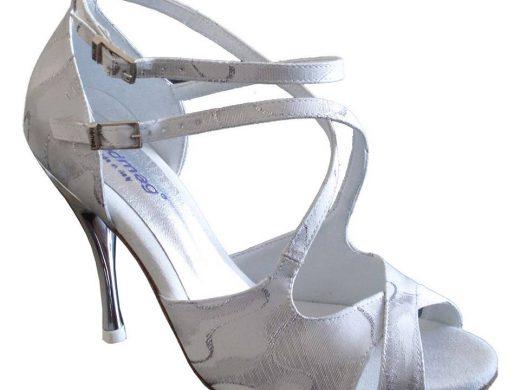 chaussure de mariage blanche et argent, Lyon